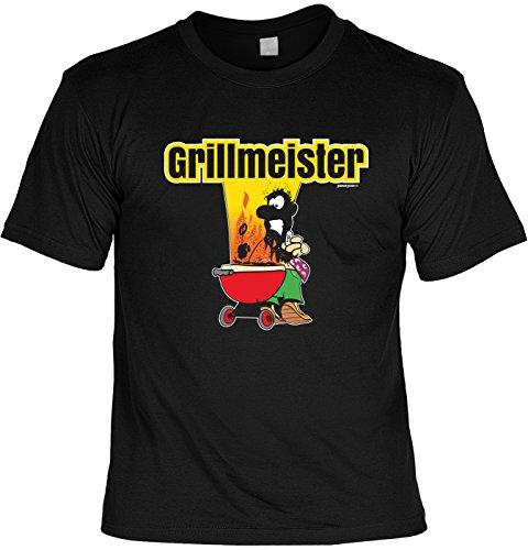 T-Shirt zum Grillen Geschenkidee T-Shirt Grillmeister Grill Party Geschenk zur Grillsaison Schwarz