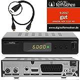 Anadol ADX 111c digitaler Full HD Kabel-Receiver [Umstieg Analog auf Digital] inkl. XAiOX® HDMI Kabel (HDTV, DVB-C / C2, HDMI, Chinch-Video, Mediaplayer, USB 2.0, 1080p) [autom. Installation]- schwarz