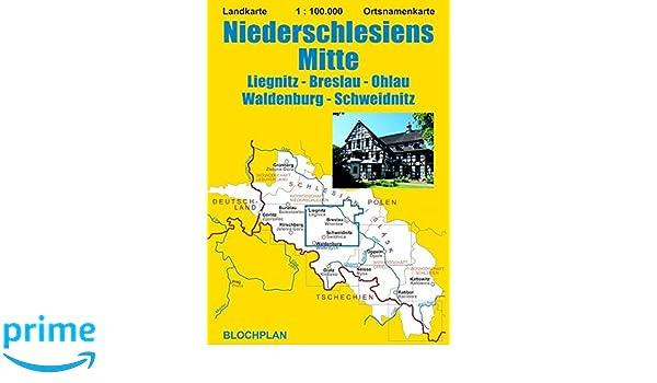 Schlesien Karte Heute.Landkarte Niederschlesiens Mitte Liegnitz Breslau Ohlau