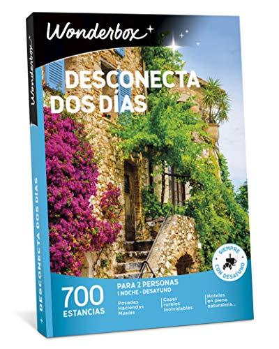 WONDERBOX Caja Regalo -DESCONECTA Dos DÍAS- 700 estancias Rurales para Dos Personas en haciendas, masías, Casas Rurales inolvidables, hoteles en Plena Naturaleza