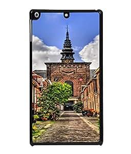 PrintVisa Designer Back Case Cover for Apple iPad 2 :: Apple iPad 3 :: Apple iPad 4 (Blue clean clouds greenery road colourful)