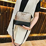 ❤️ Women Shoulder Bags, Xinantime Clearance Ladies Fashion Leather Sequins Small Deer Messenger Bag Crossbody Bag Handbags Tote Bag (Gold)