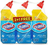 Clorox Disinfecting Toilet Bowl Cleaner Original Scent 709 milliliters Buy Two Get One Free