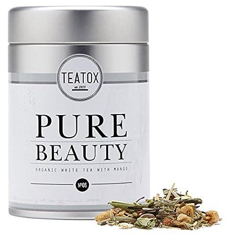 TEATOX Pure Beauty Organic Skin Care Tea, mélange de thés Bio à base de thé blanc, 50g