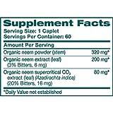 Himalaya Organic Neem 60 Caplets for Mild Acne & Healthy Skin 600mg, 2 Month Supply