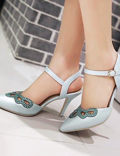 LFNLYX Chaussures Femme-Mariage / Bureau & Travail / Habillé / Décontracté / Soirée & Evénement-Bleu / Rose / Blanc-Talon Aiguille-Compensées / Blue