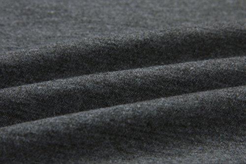 WanYang Automne Et Hiver Femmes Sweat-shirt Lâche A Manches Longues Outerwear Pullover Sweat à Capuche Gris Foncé