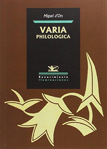 Varia philologica (Iluminaciones)