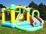 BeBoP Aire de Jeux et Toboggan Aquatique gonflables 8 en 1 par