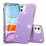 Inconnu ESR Coque pour iPhone 11 Violet, Coque Silicone Paillette Strass Brillante Bling Bling Glitter de pour Apple iPhone 11 (2019) 6,1 Pouces (Série Glamour, Violet Pailleté)
