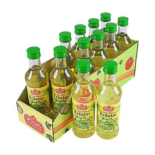 Kunella Gewürztes Pflanzenöl Kräuter 12er Pack (12 Flaschen à 100 ml)