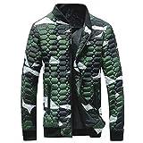 FRAUIT Herren Camouflage Winterjacke Männer Verdickung Mantel Pythonhaut Jacke Weich Schlüpfen Warm Atmungsaktiv Bequem Kleidung Bluse Top S-4XL