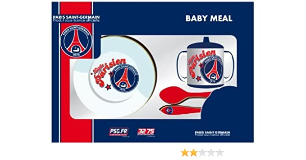 Set repas BEBE - PSG - assiette verre couverts - Puériculture vaisselle  Football - PARIS SAINT GERMAIN PSG - Collection officielle  Amazon.fr  Bébés    ... a67e1c253e0