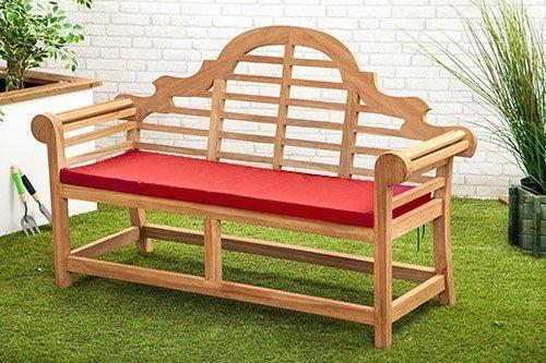Gardenista Wasserabweisend Lutyens Gartenbank Kissen in rot-kleine