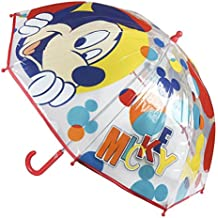 Paraguas tipo bastón infantil burbuja Mickey Mouse