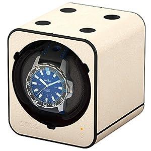 Boxy Fancy Brick Reloj beweger-Color Crema-Aspecto De Piel de Beco