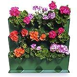 Minigarden Vertical 1 set per 9 piante, Giardino Verticale Modulare e Espandibile, Posizionato Sul Pavimento o Fissato al Muro, Sistema di Drenaggio Innovativo, Lungo Ciclo di Vita (Verde)