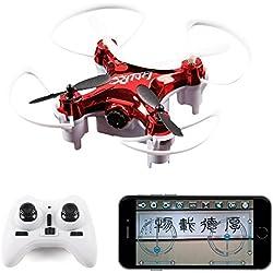 LIDI L7W (Mejor Que CX10W) Mini WiFi FPV RC Quadcopter Drone para Principiantes, niños con cámara de 0.3MP HD Aviones RC-Negro / Blanco al Azar