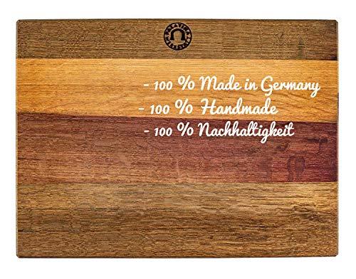 großes massives XXL- Küchenbrett (40x30 cm) | aus Fassholz (Eiche) von Hand gefertigt | sehr robust und klingenschonend | tolles Küchenbrett aus der Pfalz | 12 Monate Garantie | VK: 119,- €