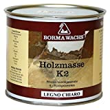 Luxus Pur UG Holzspachtelmasse Außen Holzkitt 2 K Spachtel Dunkel von Borma 750 ml