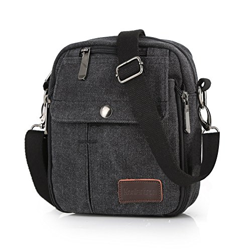 f9a5d6906f Koolertron Fashion Men s Retro lightweight Small Canvas Cross Body Everyday Satchel  Bag (17 cm (W) x 23 cm (H) x 5 cm (D)