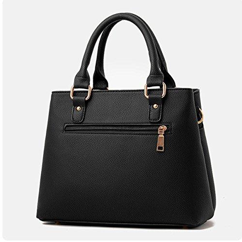 Mode Pu-leder Handtasche Für Frauen Dame Top Griff Einkaufstasche Satchel Schultertasche Multicolor Red
