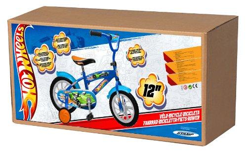 Imagen principal de Hot Wheels V124353 - Bicicleta infantil con neumáticos de caucho EVA y piñón fijo (tamaño 12
