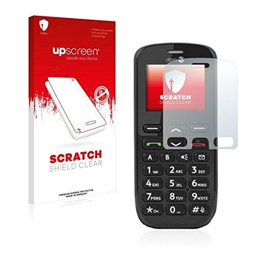 upscreen Scratch Shield Clear Bildschirmschutz Schutzfolie für Doro PhoneEasy 508 (hochtransparent, hoher Kratzschutz)