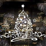 Simpatico adesivo per albero di Natale Adesivo decorativo per porta in vetro impermeabile removibile 71x58cm