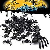 50 Pezzi Insetti Realistici di Plastica Ragno Falso Scarafaggi Vermi di Halloween Divertente Scherzo Decorazione di Favore Puntelli (50 Pezzi)