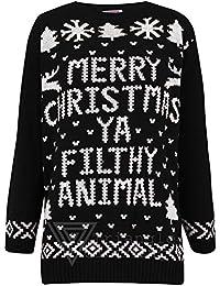 Mujeres Hombres Unisex feliz Navidad Ya Filthy Animal Novedad Jersey–Jersey para hombre