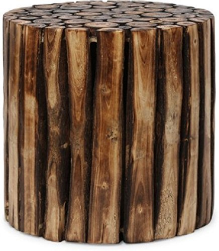 Artesia Round Shape Wooden Coffee Table Made From Natural Wood Blocks  available at amazon for Rs.1699