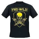 Frei.Wild -Rivalen & Rebellen/Skull T-Shirt, Farbe: Schwarz, Größe: 3XL