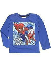 Marvel Spiderman Jungen Top-T-Shirt Alter 2 bis 8 Jahre