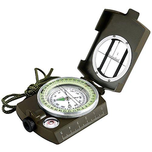 Kompass, Militärische Navigationskompass, wasserdicht und schüttelfest, multifunktionales Taschenwerkzeug, ideal compass zum Wandern Camping Klettern