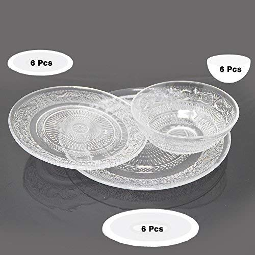 Druline 18 pz. servizio da tavola completo geschirrset servizio da tavola rilievo stoviglia piatti ciotola per müsli