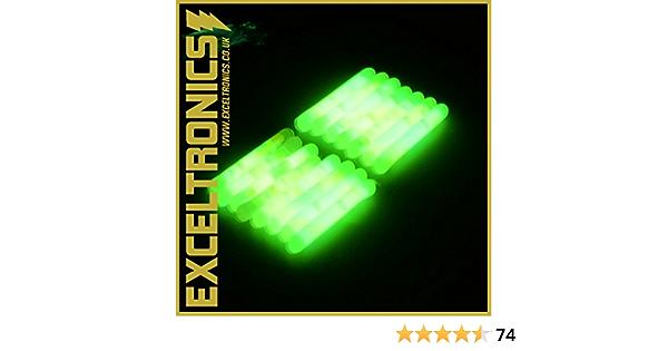Details about  /Electronic Glow Sticks Coarse Carp Fishing Float Fluorescent Rod Tip Light