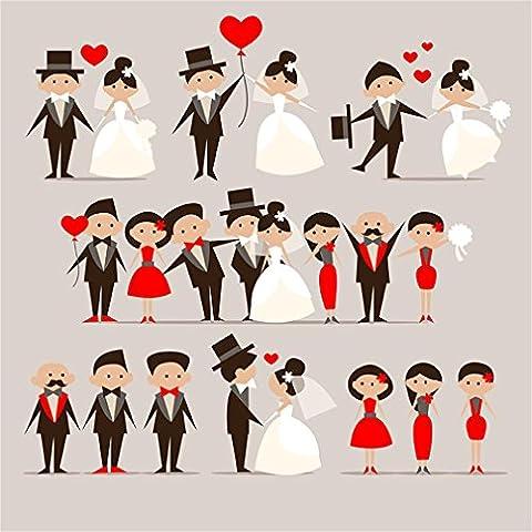 Foxnovo 2.5M x 2m fondo de la foto amore della coppia matrimonio sposa vestito per (Increspato Tela)
