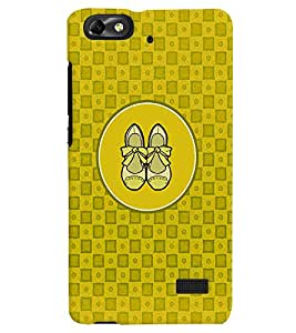 PRINTVISA Abstract Yellow Ladies Footwear Case Cover for Huawei Honor 4C