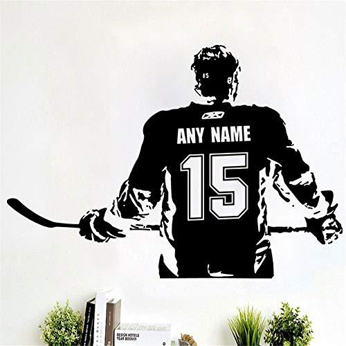 wandaufkleber schmetterling Benutzerdefinierte große Eishockey-Spieler wählen Jersey Name und Zahlen Dekor Crosby Mcdavid Kinder Schlafzimmer -