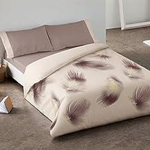 Burrito Blanco - Juego de funda nórdica 341 Beige, para cama de 160 x 190/200 cm.