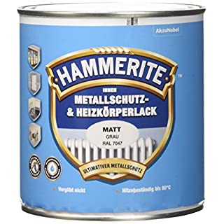 Akzo Nobel (DIY Hammerite) Indoor Protective Metal and Radiator Paint Satin 0.500 L, 5117861