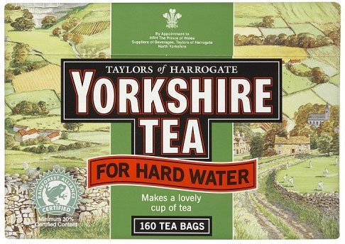 Taylors of Harrogate Yorkshire Tea for Hard Water 160 Btl. 500g
