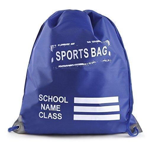Kids Plain Drawstring Sports Gym Pump RuckSuck PE Bag ROYAL