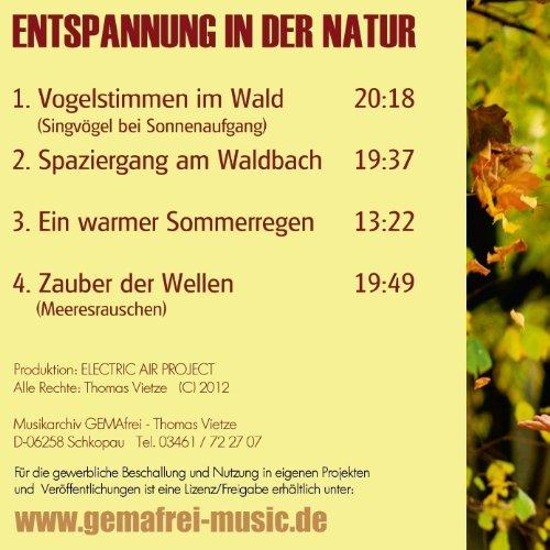 Der Klang der Natur – Wald Bach Regen und Meer-Naturklänge - 4