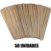 131564 PACK DE 50 PALITOS DE MADERA TAMAÑO JUMBO PARA MANUALIDADES