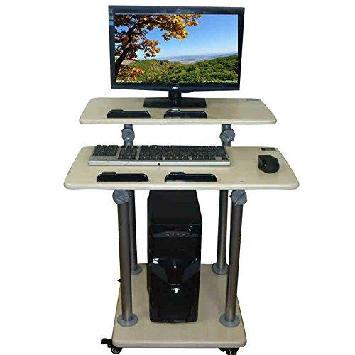 Zhuozi FUFU Wandhalterung Sitz- / Stehpult Höhenverstellbarer Office Workstation Desktop...