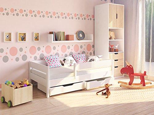 Möbel Concept - Kinderbett Junior 140x70cm mit Schubladen auf Rollen und Matratze -