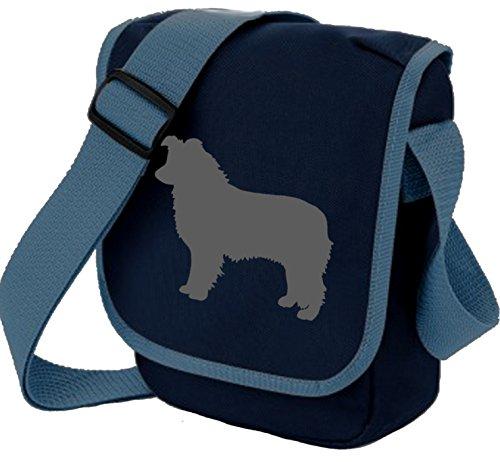 Bag Pixie - Borsa a tracolla unisex adulti Grey Dog Blue Bag