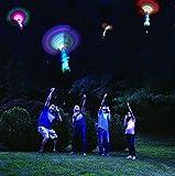 uchic 6pcs/pack bambú libélula la marcha noche juguete tirachinas LED Mini helicópteros Frisbee lanzador dardos niños dardos de regalo de juguete para niños